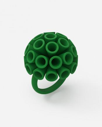 Anello Ponpon mini - RARO - Gioielli in stampa 3D