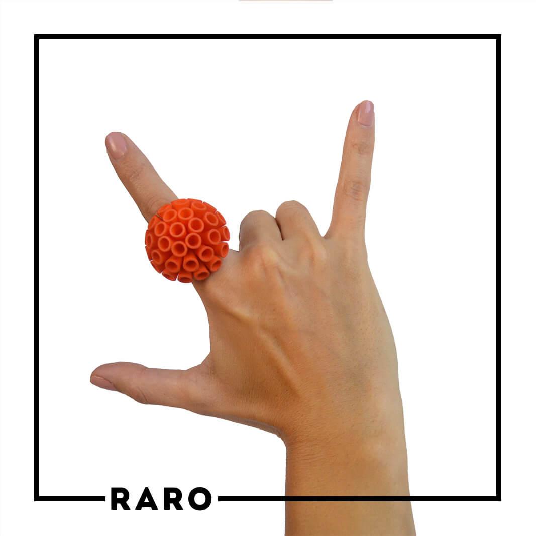 Anello PomPon Arancione RARO