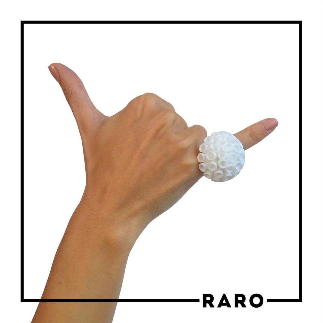 Anello PomPon Bianco RARO